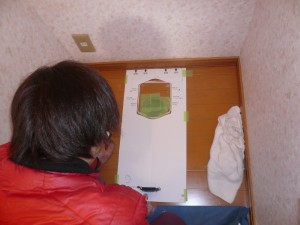 トイレ2設置作業