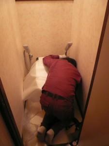 トイレ1壁紙完成トイレ設置