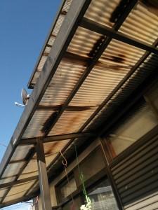 テラス屋根交換前