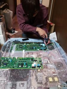 TV修理モジュール(基盤)交換1